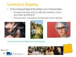 learning is ongoing3