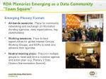 rda plenaries emerging as a data community town square