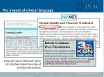 the impact of clinical language