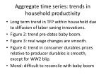 aggregate time series trends in household productivity