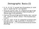 demographic basics 1
