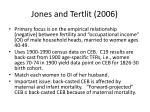 jones and tertlit 2006
