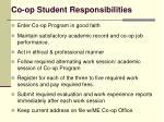 co op student responsibilities