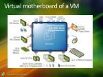 virtual motherboard of a vm
