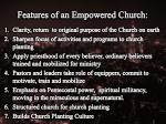 features of an empowered c hurch