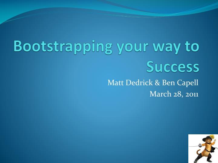bootstrapping your way to success n.