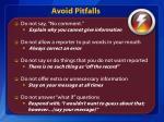 avoid pitfalls