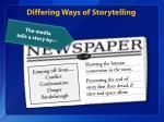 differing ways of storytelling