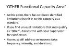 other functional capacity area