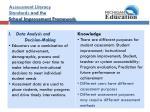 assessment literacy standards and the school improvement framework6