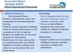 assessment literacy standards and the school improvement framework7