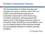 student assessment literacy