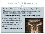 resources for children cont