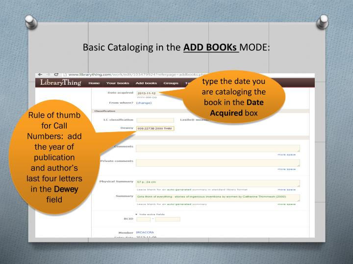 Basic Cataloging in the