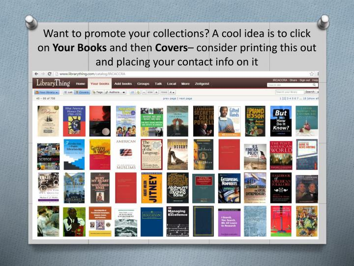 Want to promote your collections? A cool idea is to click on