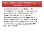 three faces of work family conflict a usa report in 2010