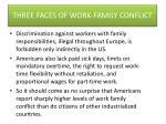 three faces of work family conflict2