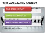 type work family conflict