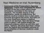 nazi medicine on trial nuremberg1