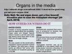 organs in the media