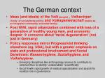 the german context
