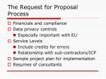 the request for proposal process1