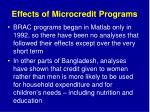 effects of microcredit programs