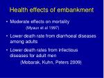 health effects of embankment