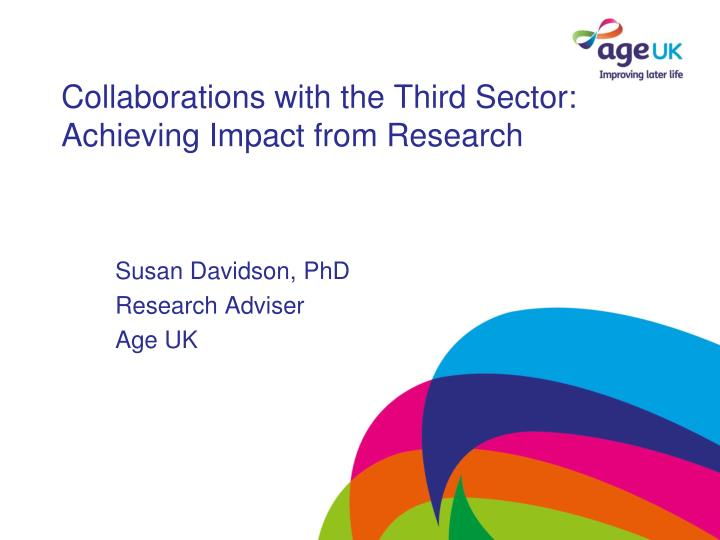 collaborations with the third sector achieving impact from research n.