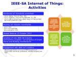 ieee sa internet of things activities