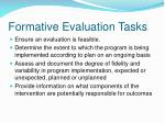 formative evaluation tasks