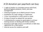 a 3 donation per paycheck can buy