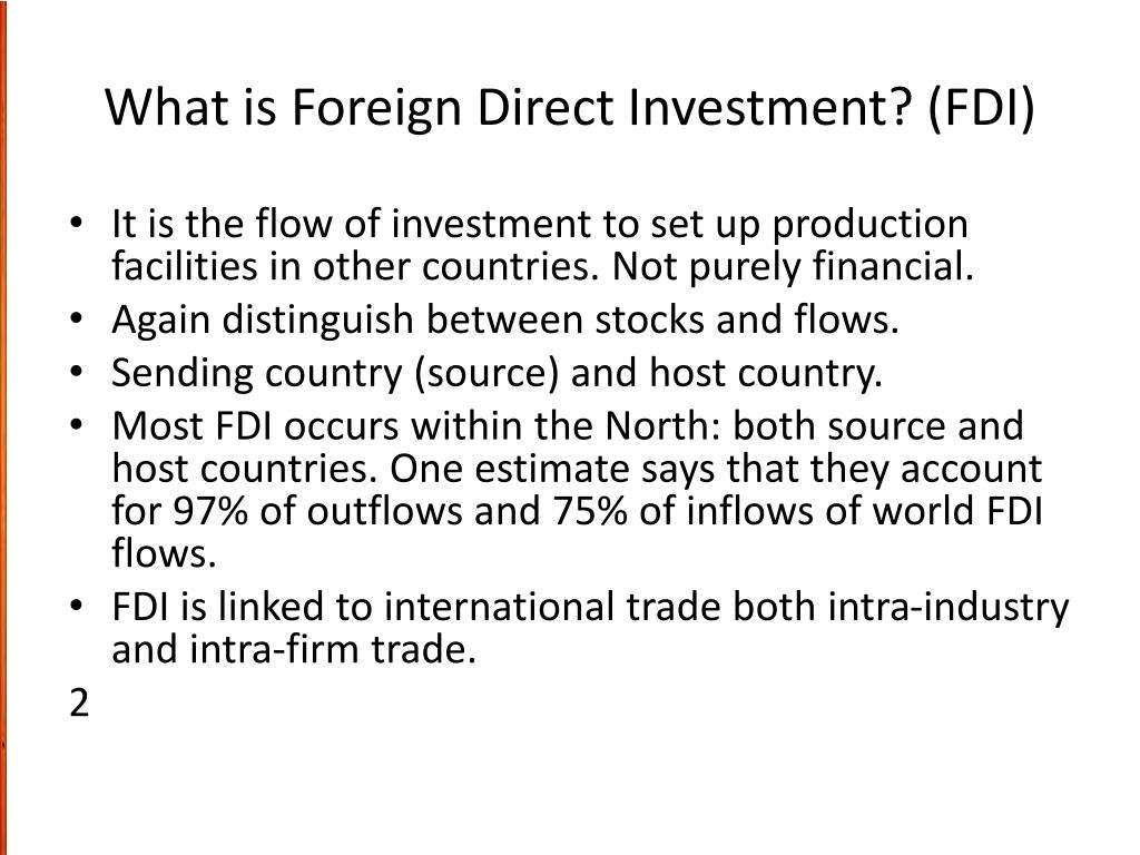 Foreign direct investment theory ppt china investment in us dollar