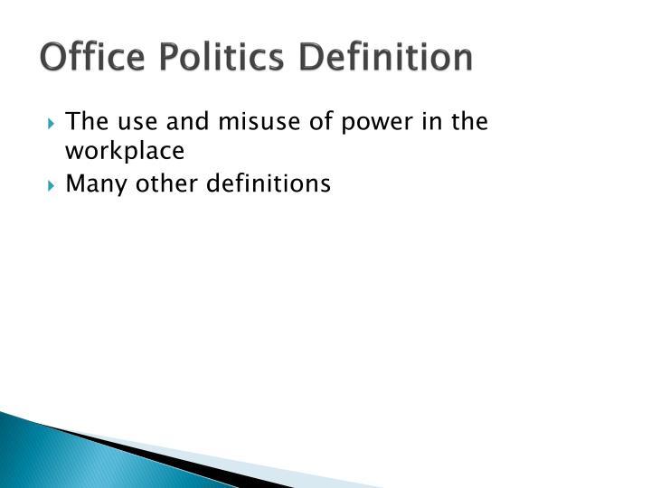 Office politics definition