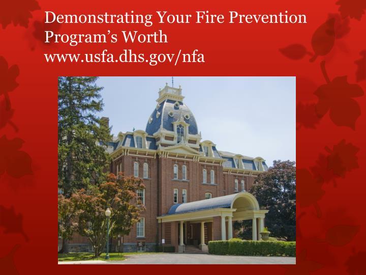 Demonstrating Your Fire Prevention Program's Worth