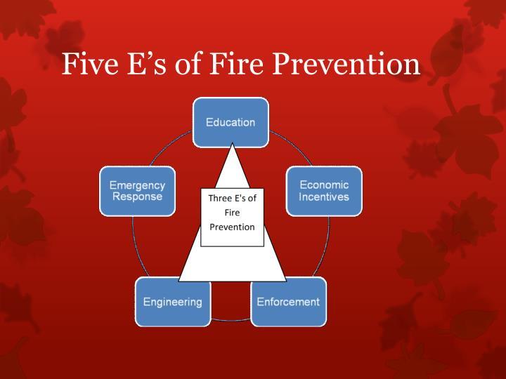 Five E's of Fire Prevention