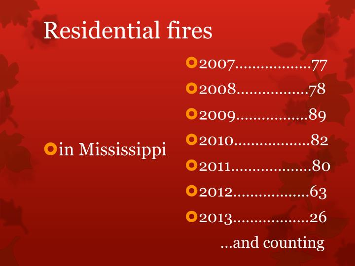 Residential fires