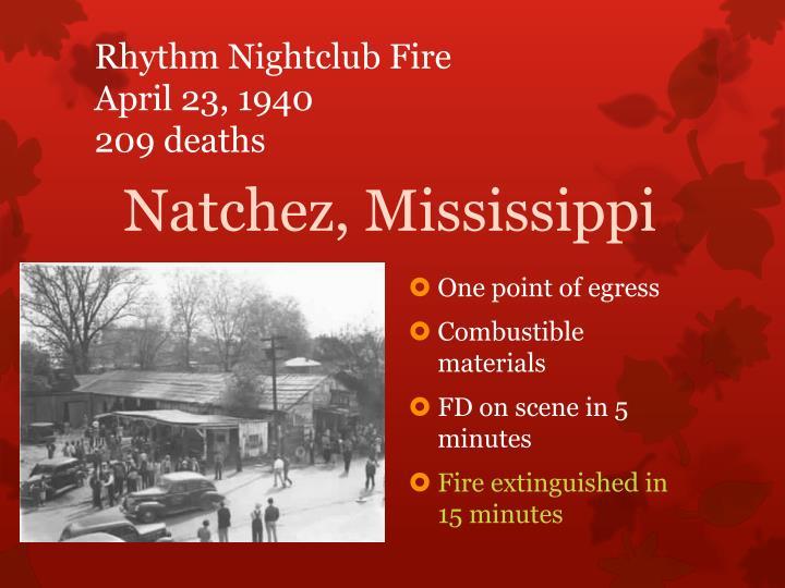 Rhythm Nightclub Fire