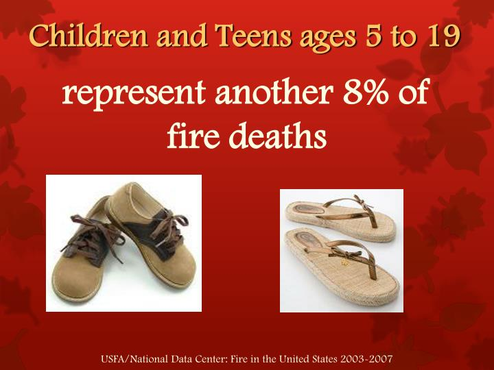 Children and Teens ages 5 to 19