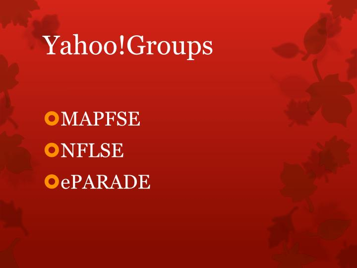 Yahoo!Groups