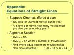 appendix equations of straight lines