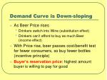 demand curve is down sloping