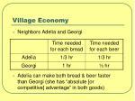 village economy