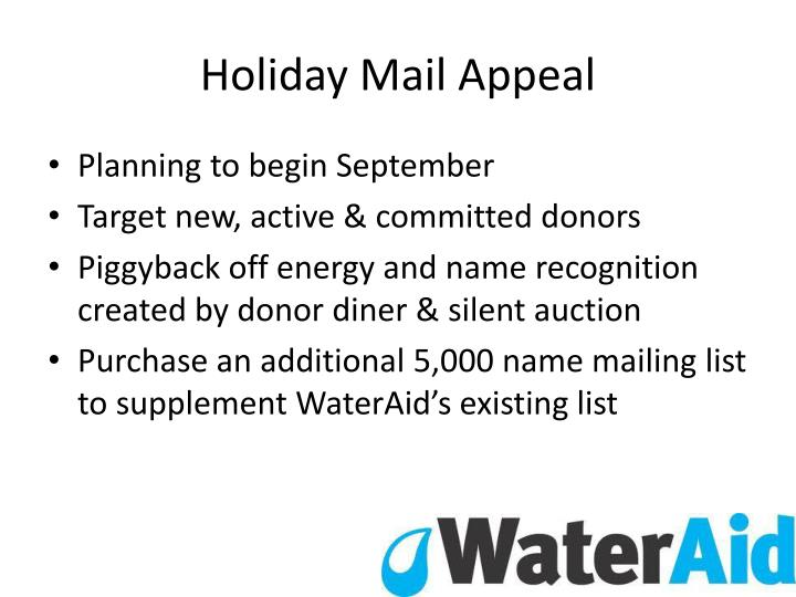 Holiday Mail Appeal