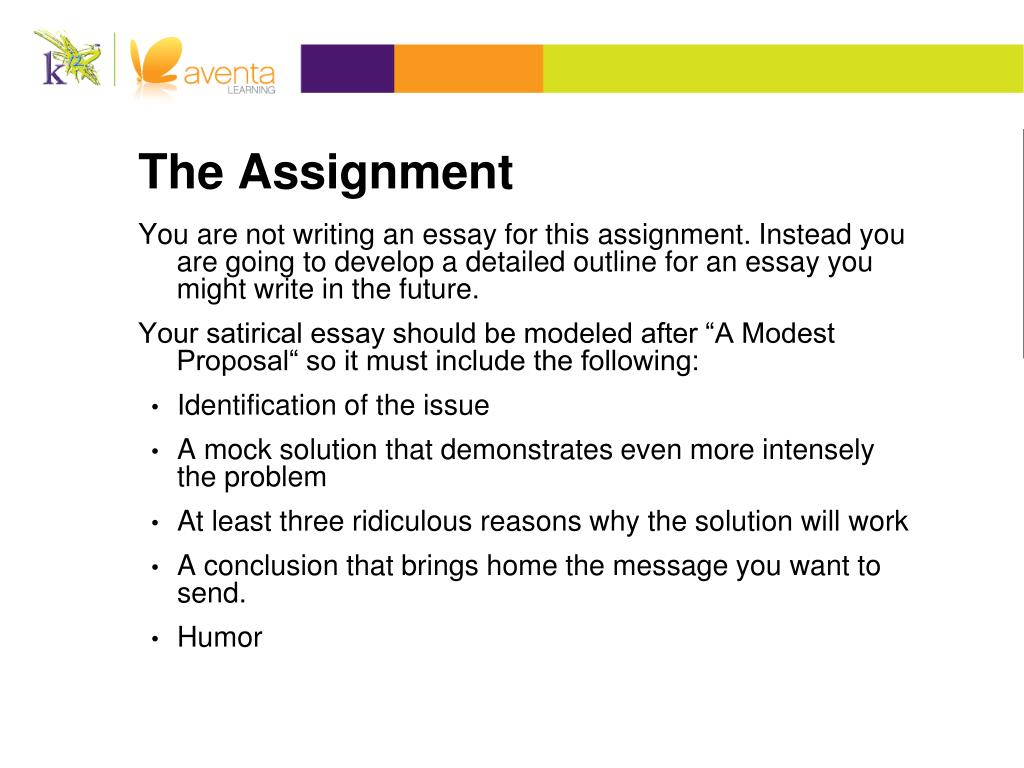 Ppt Outlining A Satirical Argument Powerpoint Presentation Free