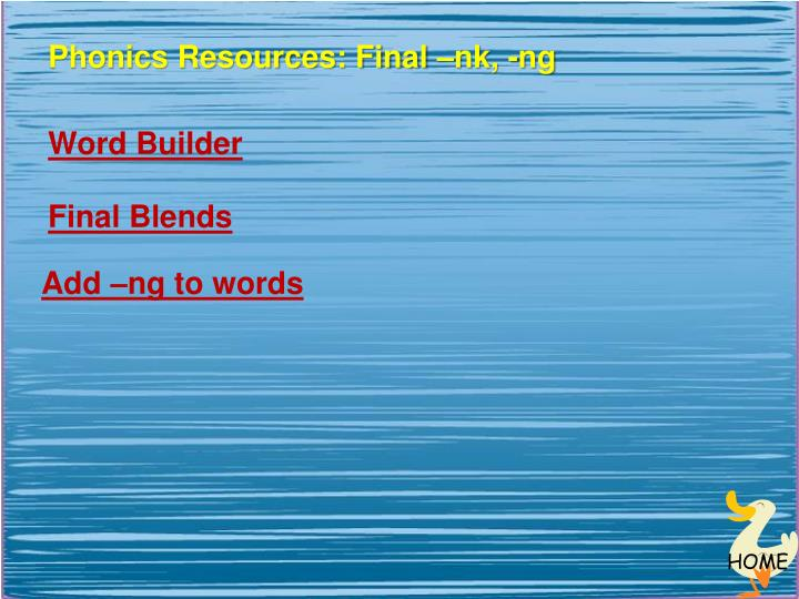 Phonics Resources: Final –