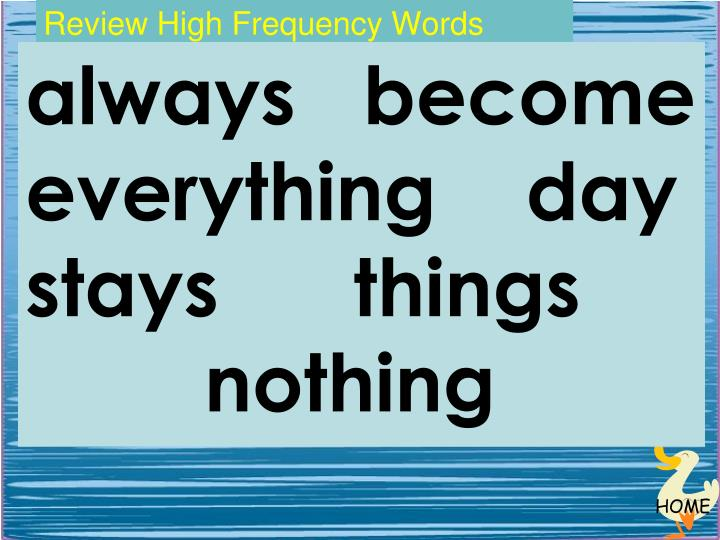 Review High Frequency