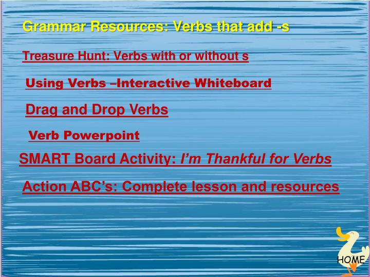 Grammar Resources: Verbs