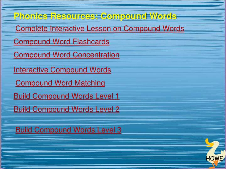 Phonics Resources: Compound Words