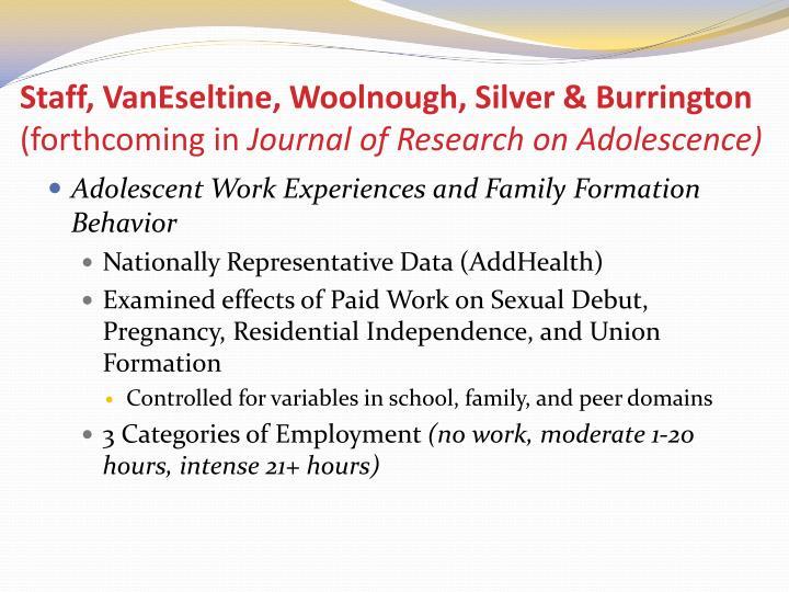 Staff, VanEseltine, Woolnough, Silver & Burrington